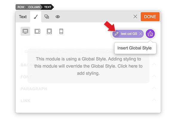 Edit Global Style