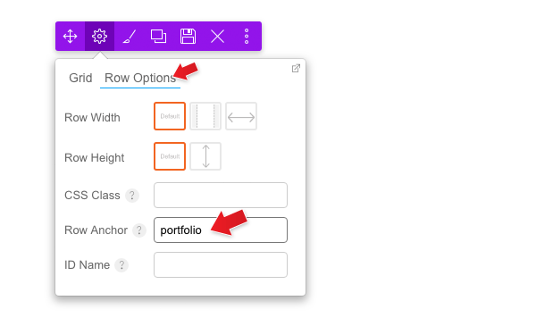 where to add the anchor text on the Builder