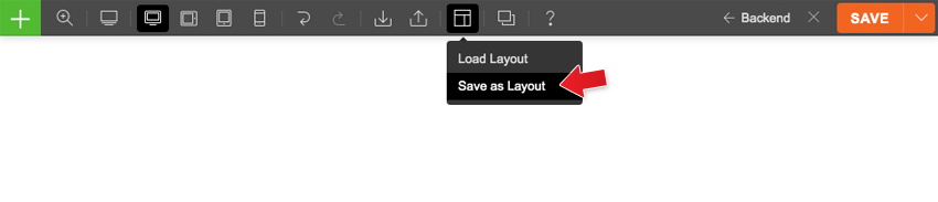 how to save layout
