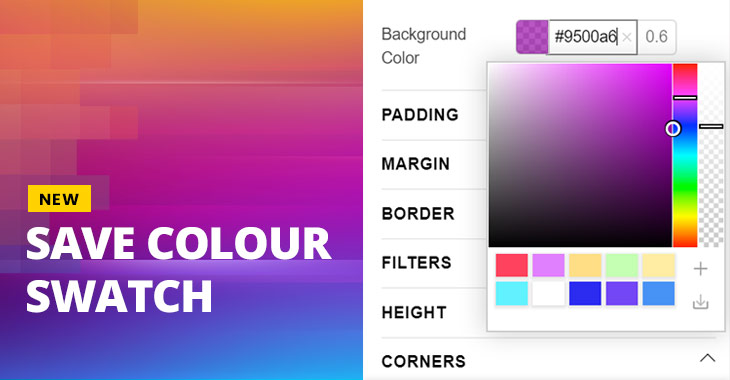 Themify New Feature Save Colour Swatch Tool WordPress Themes