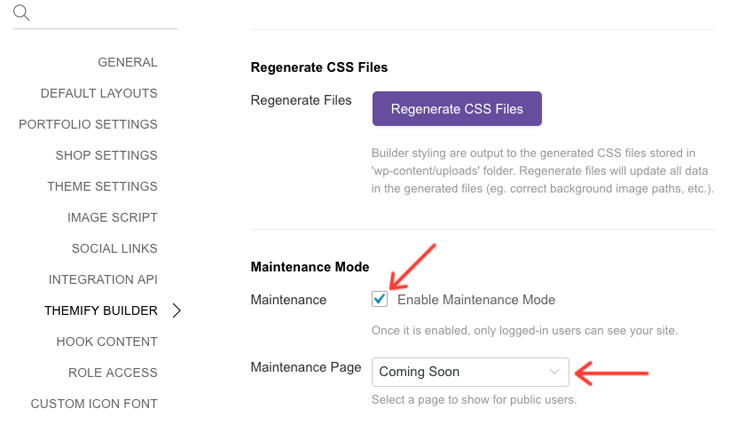 Themify WordPress New Features Maintenance Mode