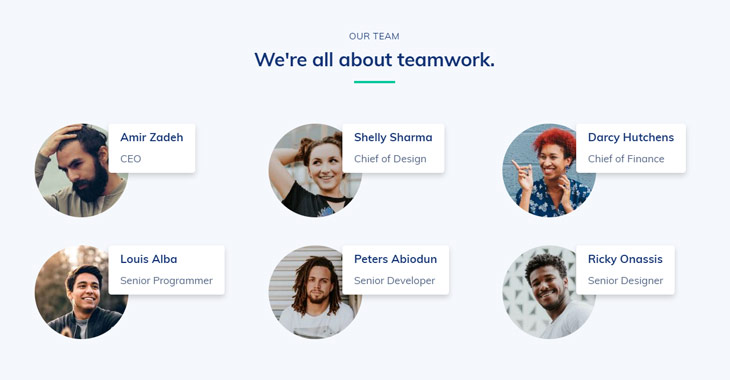 Themify Ultra Agency 3 Skin About Our Team Screenshot WordPress Agency Theme