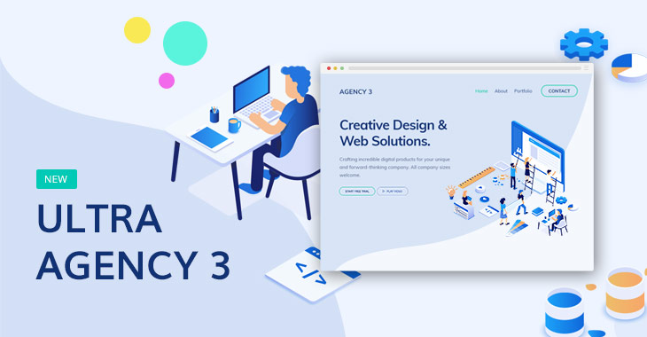 Themify Ultra Agency 3 Skin WordPress Agency Theme