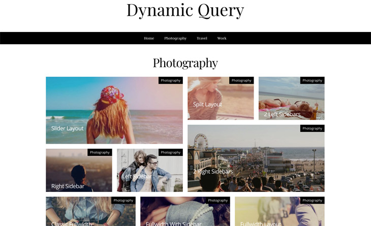 Mosaic Module Dynamic Query WordPress Themify Builder Pro