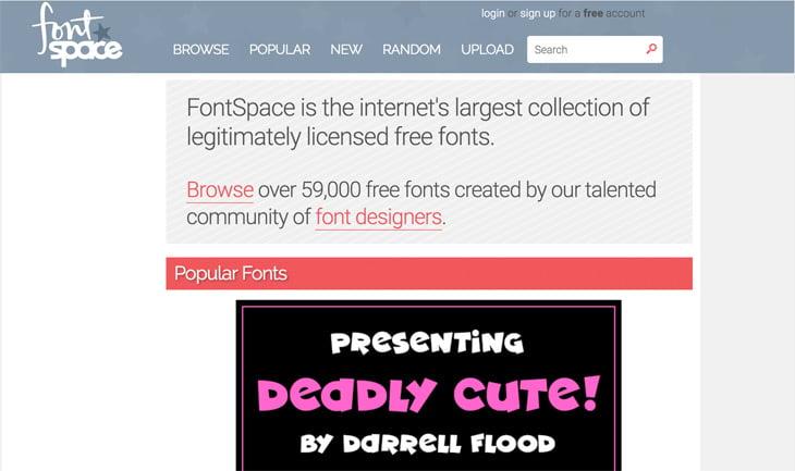 FontSpace Screenshot Themify Custom Fonts