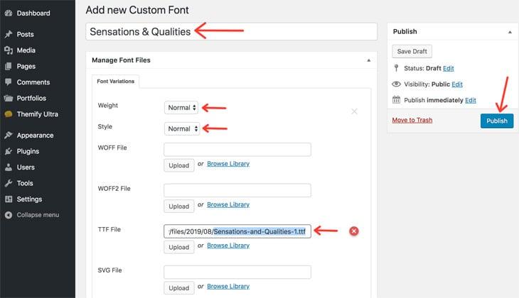 Themify New Feature WordPress Theme Custom Fonts