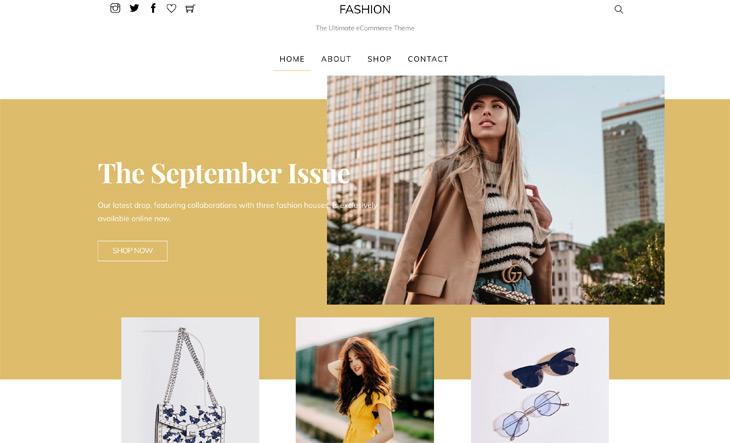 Themify Shoppe Fashion Skin WordPress Fashion Theme