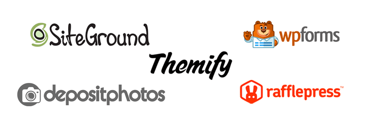 Themify WordPress Giveaway Sponsors Logos