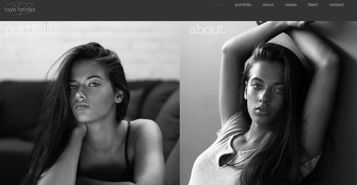 Taya Brooks Model Portfolio Site Themify Ultra Theme