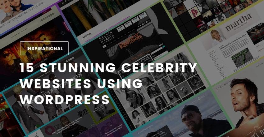 15 Stunning Celebrity Websites Using WordPress