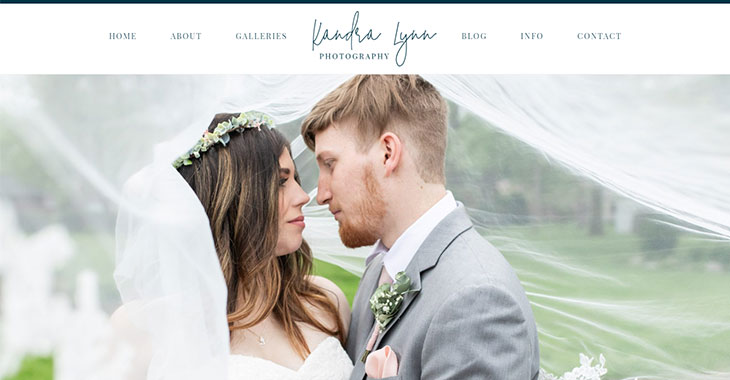 Kandra Lynn Photography WordPress Photography Themify Site screenshot