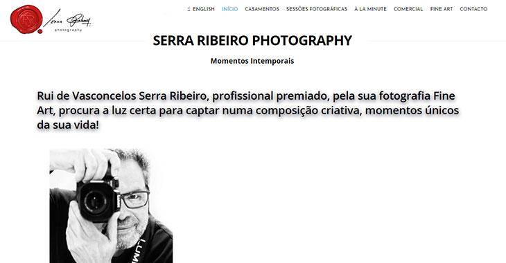 Serra Ribeiro WordPress Photography Themify Site screenshot