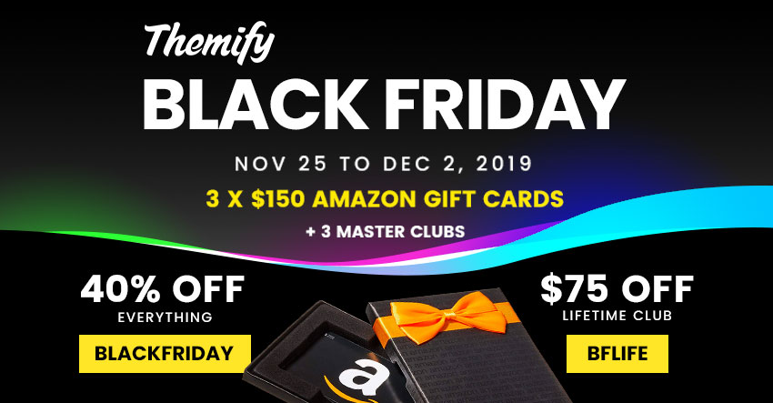 Themify Black Friday Sale And Giveaway 2019