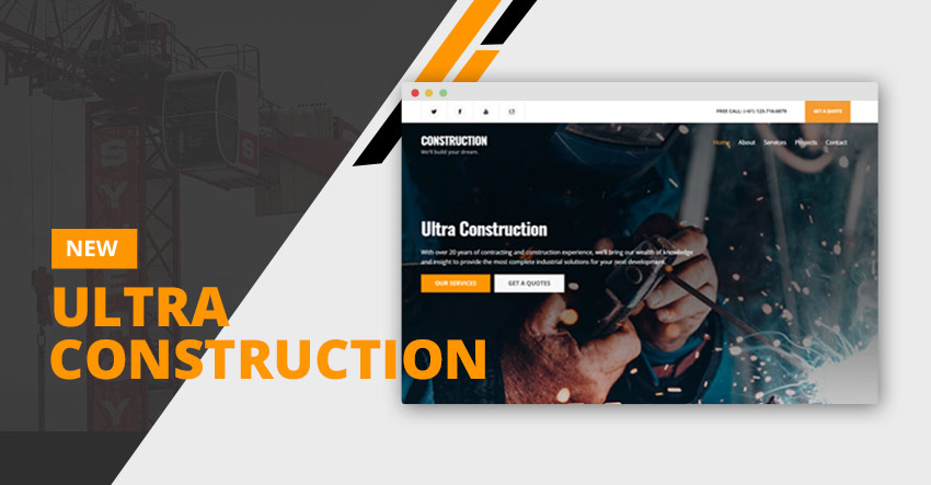 Themify Ultra Construction Skin WordPress Construction Theme