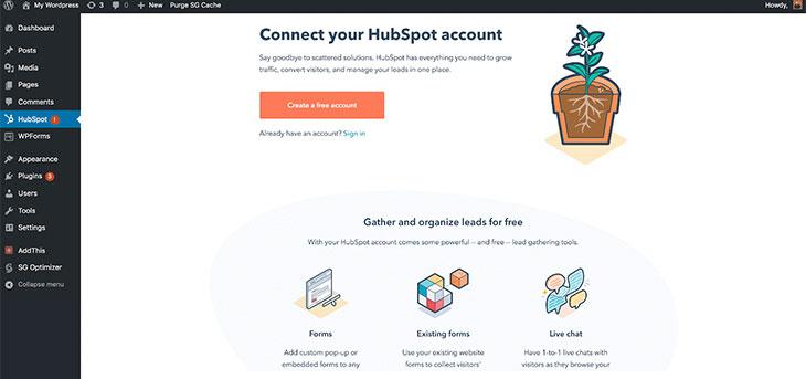 Create HubSpot Account
