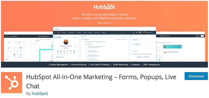Download HubSpot WordPress Plugin