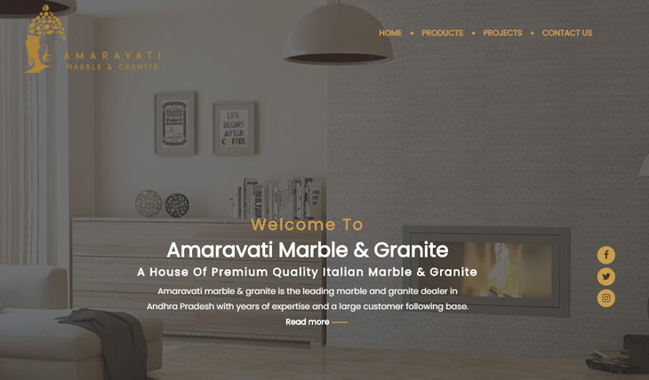 Amaravati Marble and Granite Themify Ultra Theme