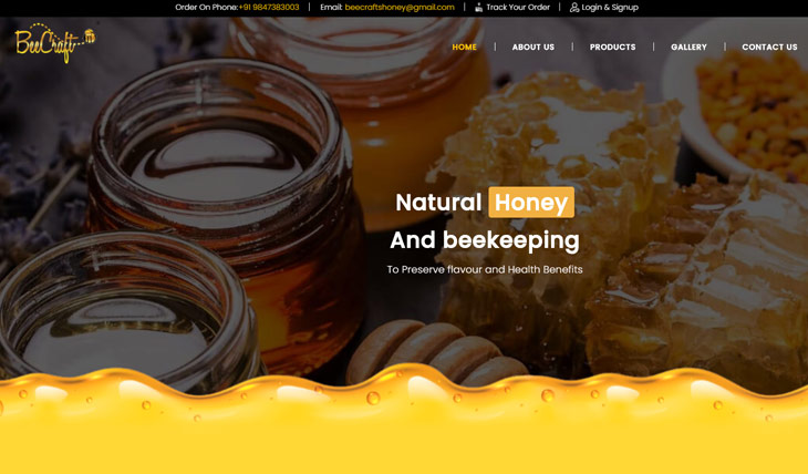 Beecraft Honey and Spices Themify Shoppe Theme