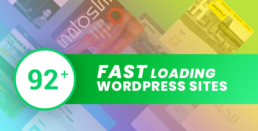 Fast Loading WordPress Sites