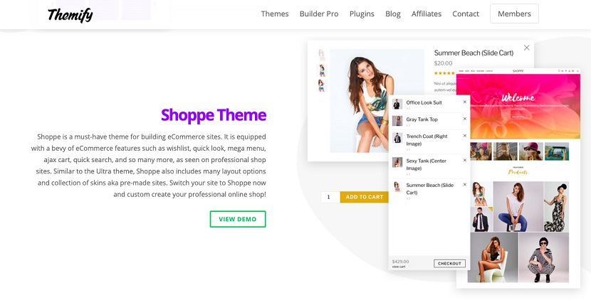 Themify theme examples