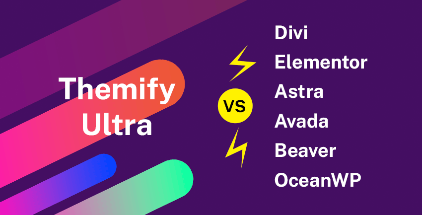 Pagespeed Comparison: Themify vs Divi, Elementor, Astra, Avada, OceanWP, Beaver