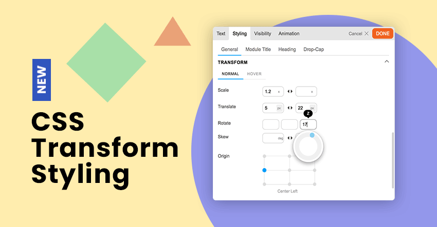 New Builder Styling Feature: CSS Transform